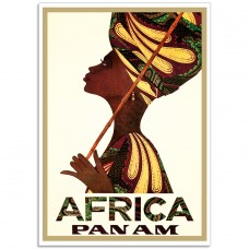 Africa Pan American Travel Poster 1967