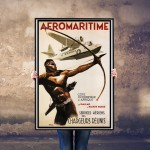 Aeromaritime Senegals Flying Seaplanes - Vintage French Airline Poster