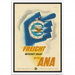 ANA Freight Without Delay - Vintage Australian Airline Poster