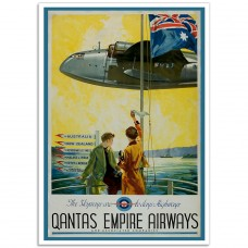 Empire Airways, Cooee - Vintage Airline Poster