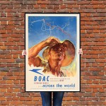 BOAC Speedbird Routes, Across the world - Vintage Airline Poster