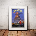For Travel Anywhere, Everywhere - Vintage Airline Poster