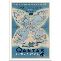 Qantas Empire Airways - Vintage Australian Airline Poster