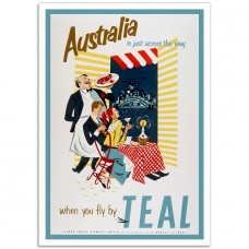 Tasman Empire Airways TEAL - Retro Australian Airline Poster