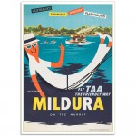 Mildura on the Murray - Retro Australian Airline Poster