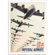 Imperial Airways - Flying-Boats - Vintage Airline Poster