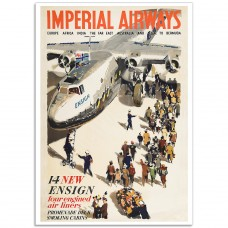 Imperial Airways - The New Ensign - Vintage Airline Poster