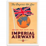 Imperial Airways - The Empires Airline - Vintage Airline Poster