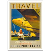 Travel - Air, Land, Sea - Vintage Australian Tourism Poster