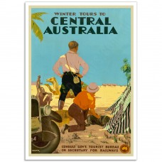 Winter Tours to Central Australia - Vintage Australian Tourism Poster