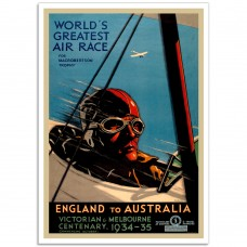 World's Greatest Air Race - Vintage Australian Tourism Poster
