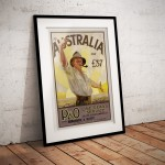 Australia for 37 Pounds - Vintage Australian Immigration Poster