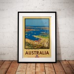 World's Loveliest Harbour - Vintage Australian Travel Poster