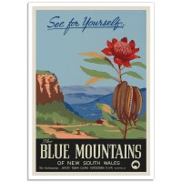 The Blue Mountains - Vintage Australian Tourism Poster