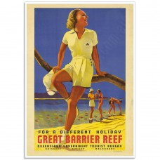 For a Different Holiday - Vintage Australian Tourism Poster