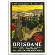 Brisbane, River City of the North - Vintage Australian Tourism Poster