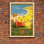 South Queensland Surfing Resorts - Vintage Australian Tourism Poster