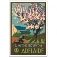 Almond Blossom - Vintage South Australian Travel Poster