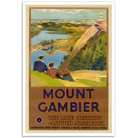 Mount Gambier - Vintage Australian Travel Poster
