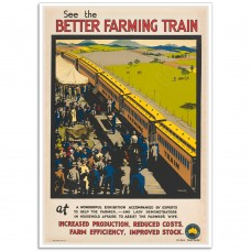 See the Better Farming Train - Vintage Australian Poster