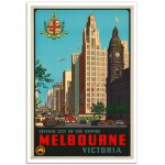 Seventh City of the Empire - Vintage AustralianTravel Poster