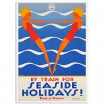 By Train for Seaside Holidays - Sellheim Poster