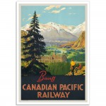 Banff Canadian Pacific Railway - Canadian Railway Travel Poster