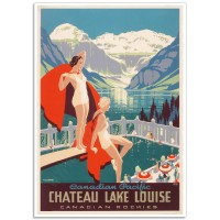 Chateau Lake Louise - Vintage Canadian Rockies Poster