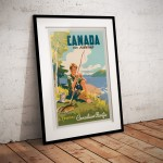 Canada for fishing Travel Canadian Pacific  - Canada Travel Poster