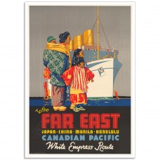To the Far East - Vintage Steamship Travel Poster