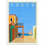 Island of Hydra, Greece - Vintage Greek Tourism Poster