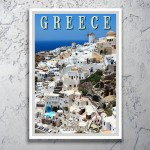 Oia Santorini Greece - Greek Travel Poster