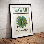 Hawaii – Vintage Canadian Airline Poster