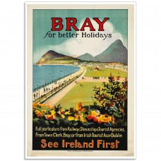 Bray for Better Holidays - Vintage Irish Travel Poster