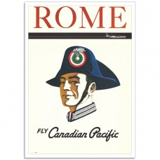 Rome – Vintage Canadian Airline Poster