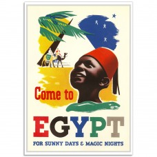 Come to Egypt - Retro Egyptian Tourist Poster