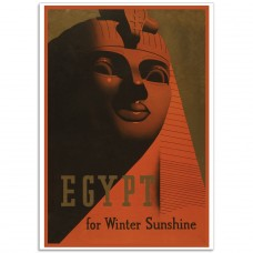 Egypt For Winter Sunshine - Egyptian Tourist Poster