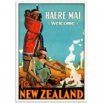 Haere Mai to New Zealand - Vintage NZ Travel Poster