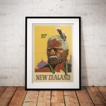 Maori Chief - Vintage New Zealand Travel Poster