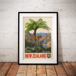 New Zealand Tree Fern - Vintage NZ Travel Poster
