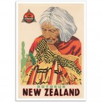 Rotorua New Zealand - Vintage NZ Travel Poster