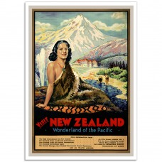Visit New Zealand - Vintage New Zealand Travel Poster
