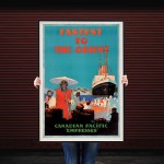 Fastest to the Orient - Vintage Steamship Travel Poster