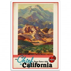 The Chief to California - Vintage American Railway Poster