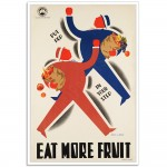 Eat More Fruit - Vintage Australian Railway Poster