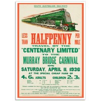 SA-Railways - Murray Bridge Carnival - Vintage Australian Railway Poster