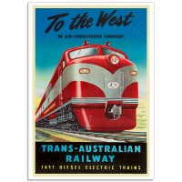 To The West - Trans-Australian Railway - Vintage Australian Railway Poster