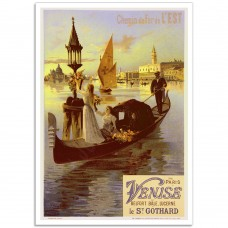 From Paris to Venice - Vintage French Railroad Poster
